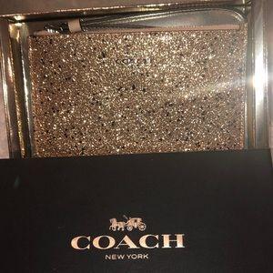 Coach glitter Wristlet